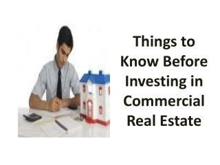 Things to Know Before Investing in Commercial Real Estate