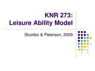 knr 273:  leisure ability model