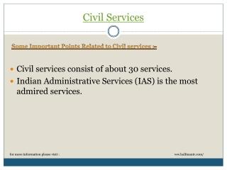Discussion about Civil services
