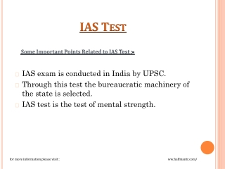 IAS test is the test of mental strength