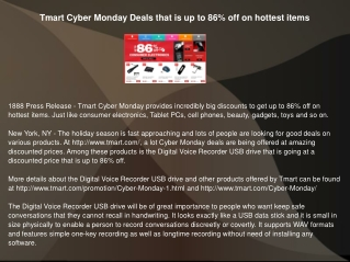 Tmart Cyber Monday Deals that is up to 86% off on hottest