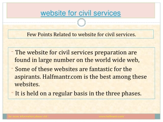 All information about website for civil services exam