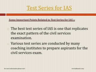 The best test series of IAS