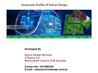 Corporate Profile of Extron Design