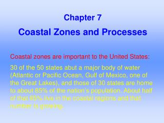 Coastal Zones and Processes