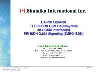 E1-PRI GSM-30 E1 PRI ISDN GSM Gateway with 30 x GSM Interfaces PRI ISDN Q.931 Signaling EURO ISDN