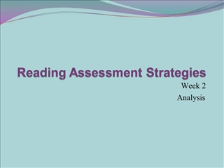 Reading Assessment Strategies