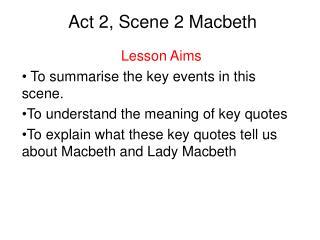 Act 2, Scene 2 Macbeth
