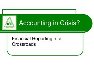 Accounting in Crisis