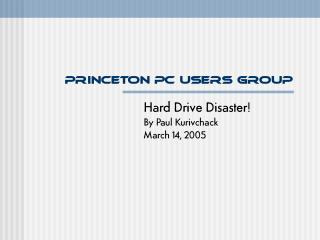 Princeton PC Users Group