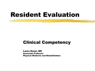resident evaluation
