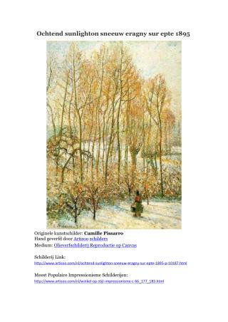 Ochtend sunlighton sneeuw eragny sur epte 1895 -- Artisoo