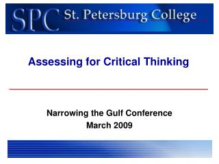 Assessing for Critical Thinking