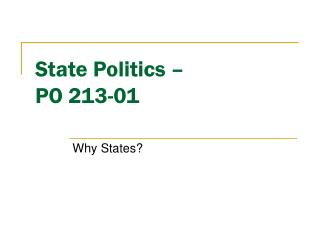 PO213-1 -- State Politics