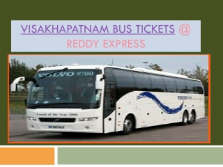 Visakhapatnam Bus Tickets