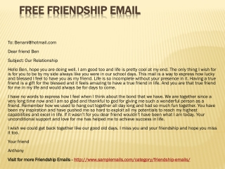 Free Friendship Email