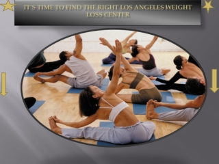 Los Angeles Weight Loss Center: The Right Way To Burn Calori