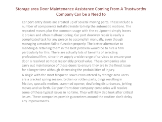 Los Angeles Garage Door Services aims