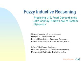 Fuzzy Inductive Reasoning