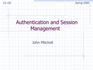 Authentication and Session Management