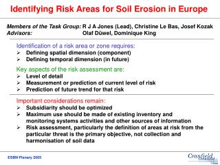 Identifying Risk Areas for Soil Erosion in Europe