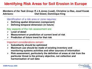Identifying Risk Areas for Soil Erosion in Europe