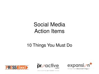 social media action items