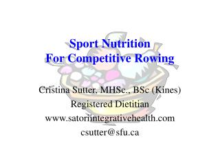 Sport Nutrition  For Competitive Rowing