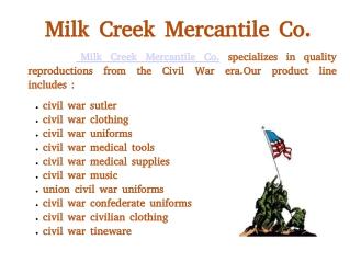 Milk Creek Mercantile