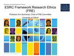 esrc framework research ethics fre