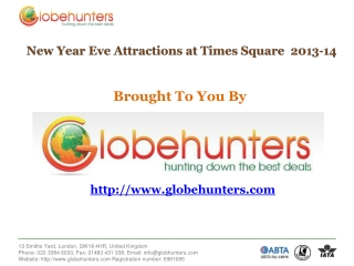 New Year Eve Attractions at Times Square