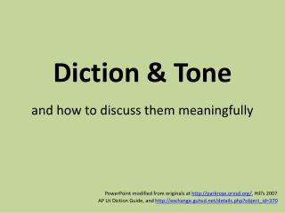 Diction  Tone