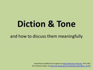 Diction  Tone