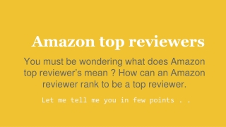 Amazon top reviewers