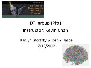 DTI group Pitt Instructor: Kevin Chan