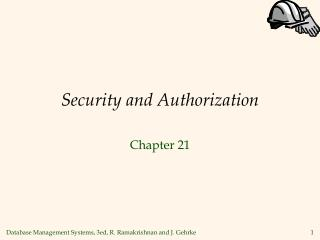 Security and Authorization