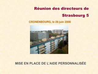 R union des directeurs de  Strasbourg 5