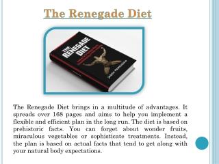 Jason Ferruggia Renegade Diet