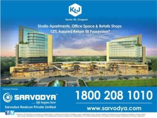 KLJ Sector 83 Gurgaon 9910025066 Studio Apartment, Retail Sh