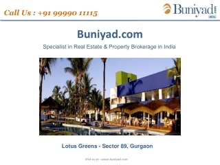 Lotus Greens sector 89 Gurgaon|Buniyad.com