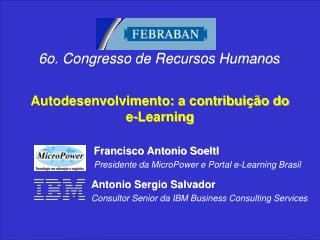 Autodesenvolvimento: a contribui  o do e-Learning