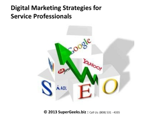 Digital Marketing Strategies For Service Professionals