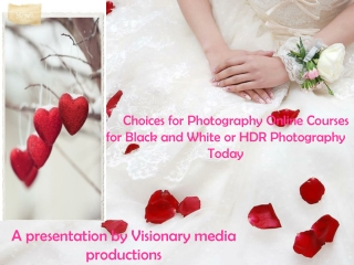 Choices for photography online courses