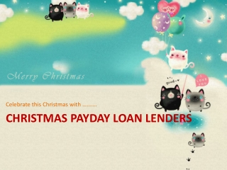 Christmas Payday Loan Lenders