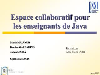 Espace collaboratif pour les enseignants de Java