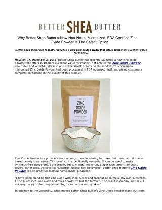 Why Better Shea Butter