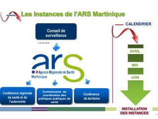 Les Instances de l ARS Martinique