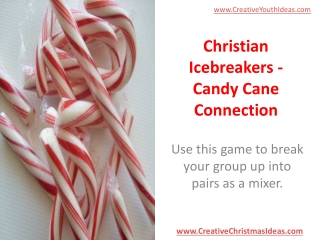 Christian Icebreakers - Candy Cane Connection