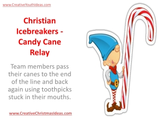 Christian Icebreakers - Candy Cane Relay