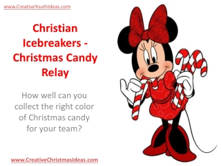 Christian Icebreakers - Christmas Candy Relay
